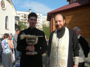 Освящение пасок в храме Андрея Первозванного